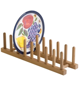 bamboo-wood-plate-rack